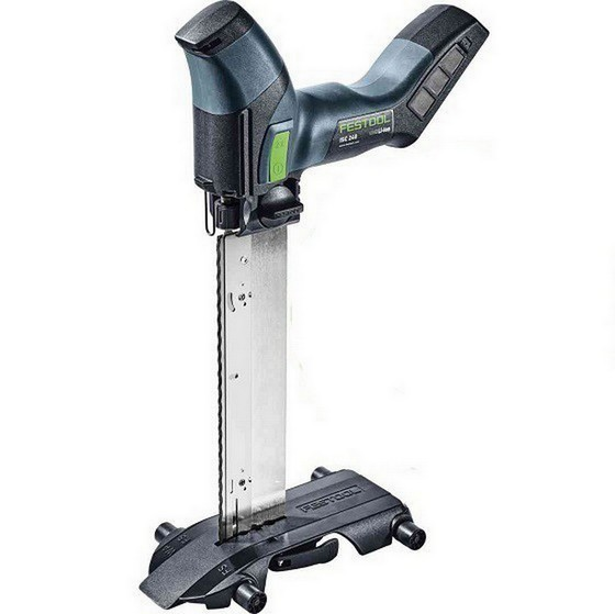 Image of Festool 574821 Iisc240liebbasic 18v Insulation Saw With Guide Rail Slide Body Only