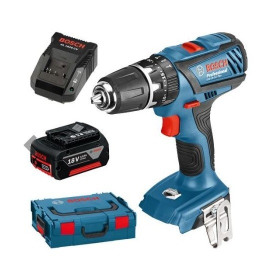 Image of BOSCH GSB182LI PLUS 18V COMBI DRILL LIGHTSERIES WITH 1X 30AH LIION BATTERY SUPPLIED IN LBOXX
