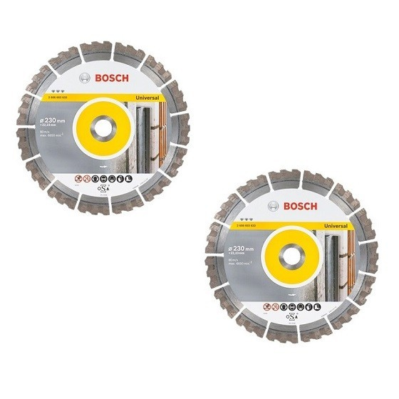 Image of BOSCH 06159975T3 230MM DIAMOND DISC TWIN PACK