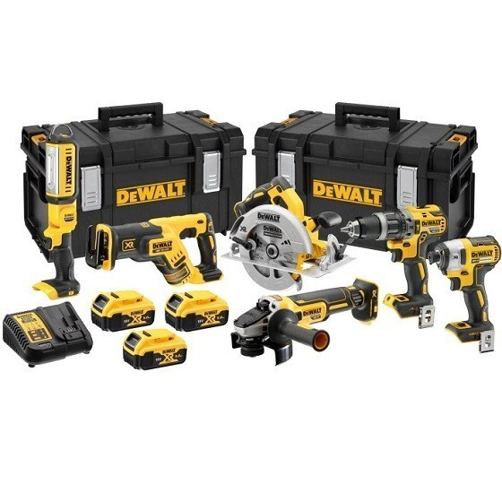 Image of DEWALT DCK623P3GB 6 PIECE 18V BRUSHLESS KIT WITH 3X 50AH LIION BATTERIES