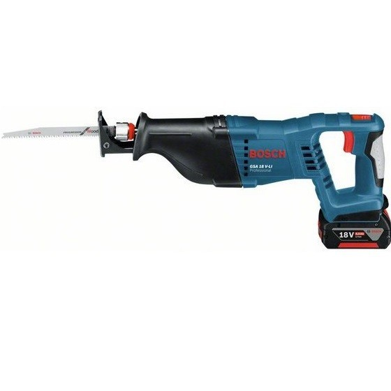 Image of BOSCH GSA18VLI 18V SABRE SAW WITH 2X 40AH LIION BATTERIES