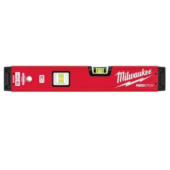 Image of Milwaukee 4932459063 Redstick Backbone Magnetic Spirit Level 600mm