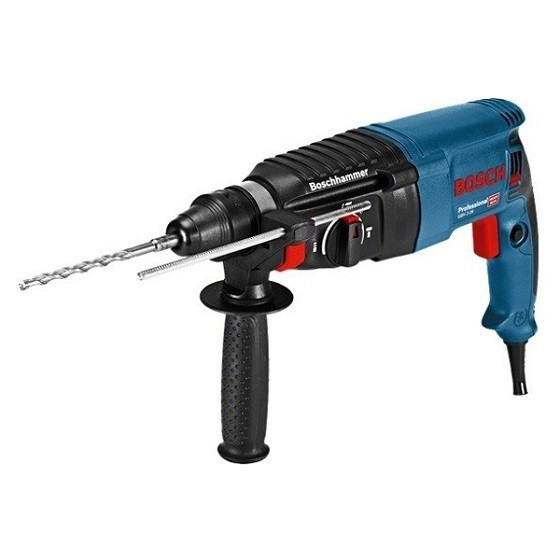 Image of BOSCH GBH226 SDS ROTARY HAMMER DRILL 240V FREE 8 PIECE SDS CHISEL & DRILL SET