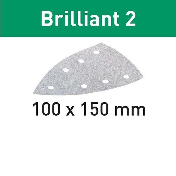 Image of FESTOOL 492805 PACK OF 10 DELTA ABRASIVE PADS 80 GRIT 100X150MM