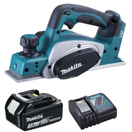Image of MAKITA DKP180R1 18V PLANER WITH 1X 30AH LIION BATTERY & CHARGER SUPPLIED IN CARTON