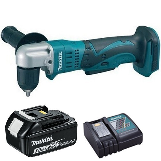Image of Makita Dda351r1 18v Angle Drill With 1x 30ah Liion Battery & Charger Supplied In Carton
