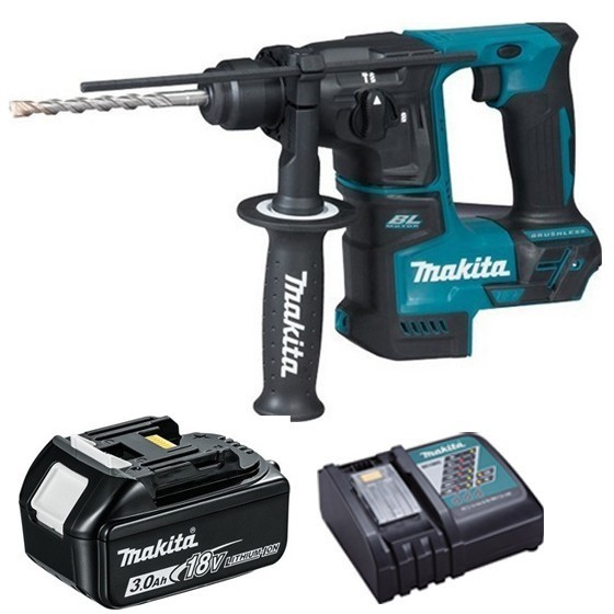 Image of MAKITA DHR171R1 18V SDS HAMMER DRILL WITH 1X 30AH LIION BATTERY & CHARGER SUPPLIED IN CARTON