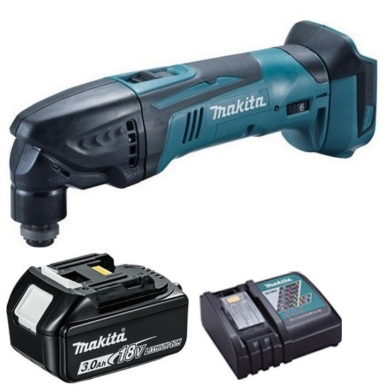 Image of Makita Dtm50zr1 18v Multi Tool With 1x 30ah Liion Battery & Charger Supplied In Carton