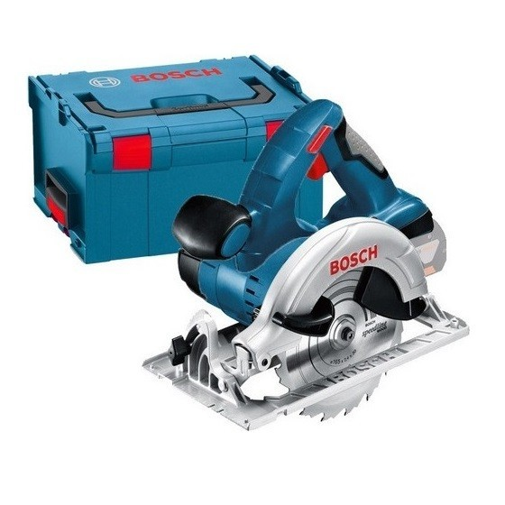 Image of BOSCH GKS18VLI 18V CIRCULAR SAW WITH 2X 30AH LIION BATTERIES SUPPLIED IN LBOXX