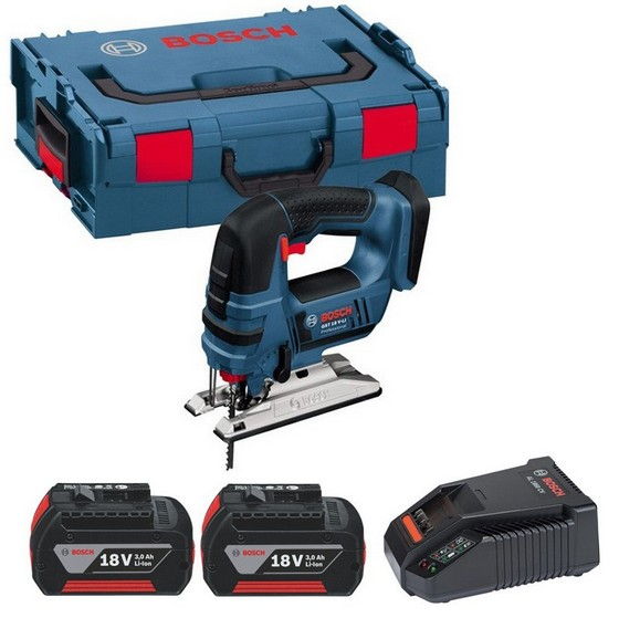 Image of Bosch Gst18vlib 18v Jigsaw With 2x 30ah Liion Batteries Supplied In Lboxx