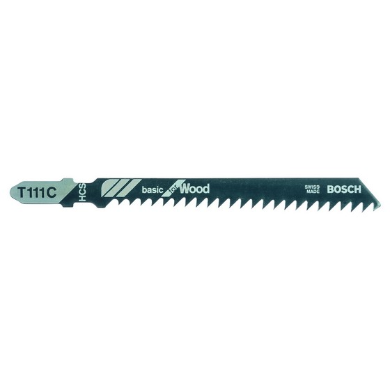 Image of Bosch 2608630033 Pack Of 5 T111c Basic Wood Jigsaw Blades 450mm