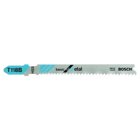 Image of Bosch 2608631014 Pack Of 5 T118b Metal Cut Jigsaw Blades 256mm