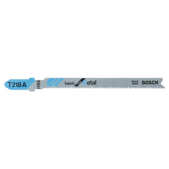 Image of Bosch 2608631032 Pack Of 5 T218a Basic Metal Cutting Blades