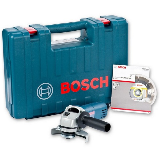 Bosch GWS-850 115mm Angle Grinder 240V (INCLUDES DIAMOND DISC)