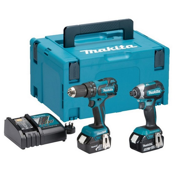 Image of MAKITA DLX2173TJ 18V BRUSHLESS TWIN PACK WITH 2X 50AH LIION BATTERIES