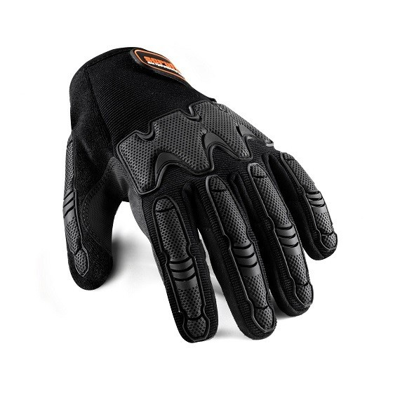 Image of SCRUFFS T52201 SILICONE COATED GLOVES BLACK XL