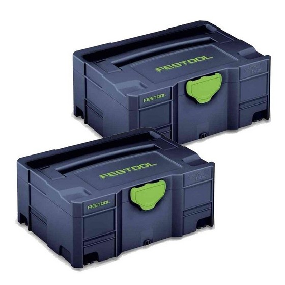 Image of FESTOOL 204534 SYSTAINER TLOC SPECIAL EDITION BLUE SYS 2 TL B PACK OF 2
