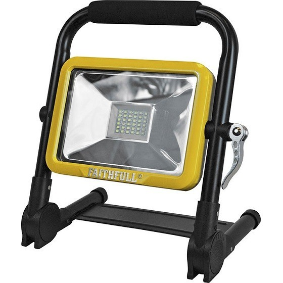 Image of Faithfull Xms18wlfold 20w Led Rechargeable Folding Worklight
