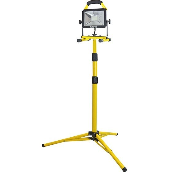 Image of Faithfull Xms18tri110v 20w Led 1800 Lumens Tripod Site Light 110v