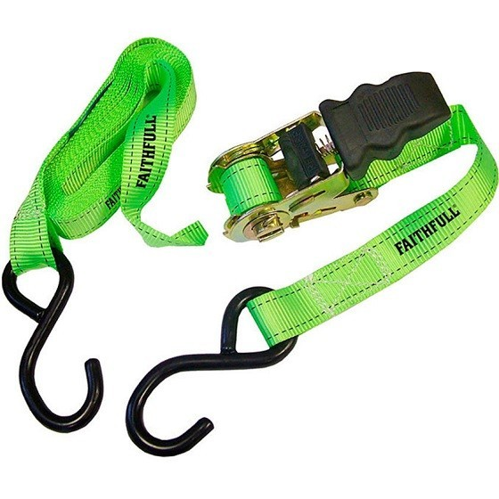 Image of FAITHFULL XMS18TIE4 4 PACK OF RATCHET TIE DOWNS