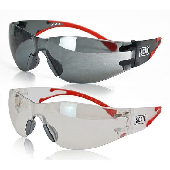 Image of SCAN XMS18GLASS2 FLEXI SAFETY GLASSES TWIN PACK