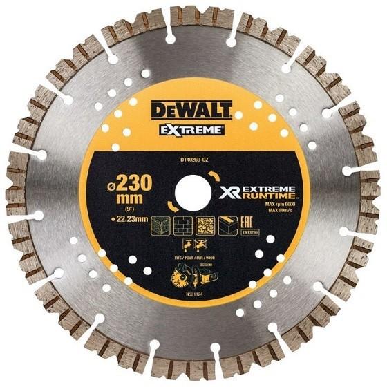 Image of Dewalt Dt40260qz Extreme Diamond Wheel 2223 X 230mm
