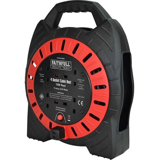 Image of Faithfull Xms18reel10 Cable Reel 10m 13a 240v