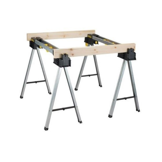 Image of STANLEY XMS18STANDS FATMAX ALUMINIUM SAWHORSE TRESTLES TWIN PACK