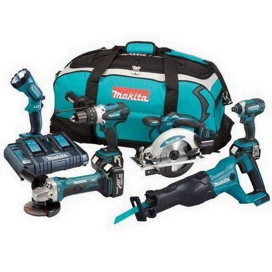 Image of Makita Dlx6072pt 18v 6 Piece Kit With 3x 50ah Liion Batteries