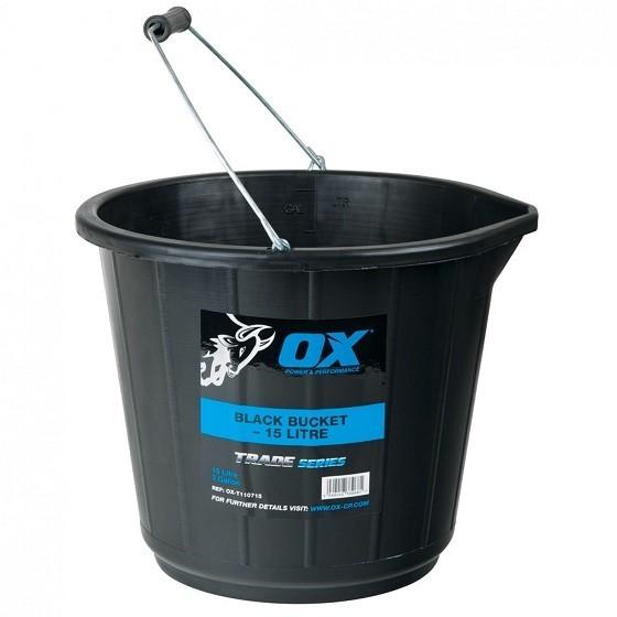 Image of Ox Trade Bucket 15 Litre Black