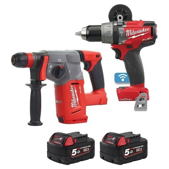 Image of Milwaukee M18onepp2n502b 18v Twin Pack With 2x 50ah Liion Batteries