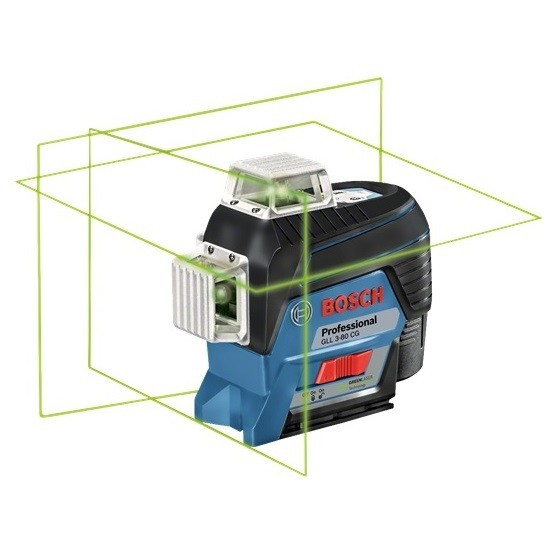 Image of Bosch Gll380cg 12v Multiline Green Laser With 1x 20ah Liion Battery