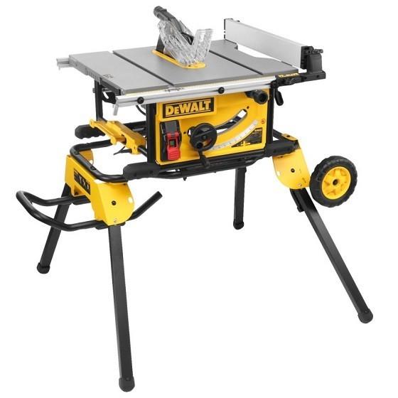 Image of DEWALT DWE7492LX 250MM TABLE SAW 110V DWE74912 LEG STAND