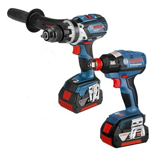 Image of Bosch Gsb18v85 & Gdx18vec 18v Brushless Twin Pack With 2x 50ah Liion Batteries