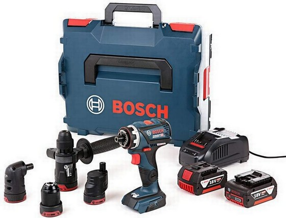 Image of BOSCH GSB18V60 FC 18V BRUSHLESS FLEXICLICK COMBI HAMMER DRILL WITH 2X 50AH LIION BATTERIES