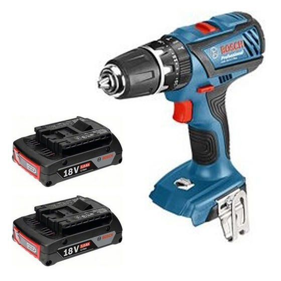 Image of BOSCH GSB182LI PLUS 18V LIGHTSERIES COMBI DRILL WITH 2X 20AH LIION BATTERIES SUPPLIED IN LBOXX