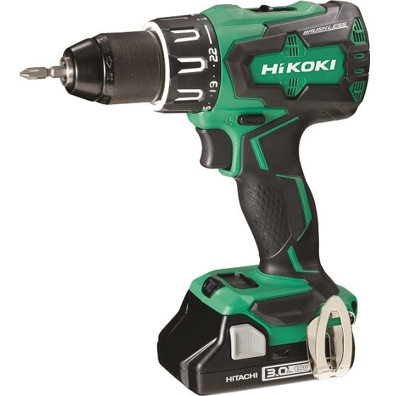Image of HIKOKI DV18DBFL2JMZ 18V BRUSHLESS COMBI HAMMER DRILL WITH 2X 30AH LIION BATTERIES
