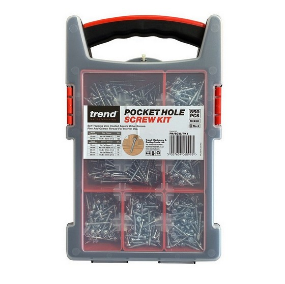 Image of TREND PHSCWPK1 POCKET HOLE ASSORTED SCREWS BOX OF 850