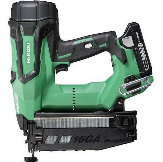 Image of Hikoki Nt1865dmjxz 18v Brushless 2nd Fix 16 Gauge Straight Nail Gun With 2x 30ah Liion Batteries