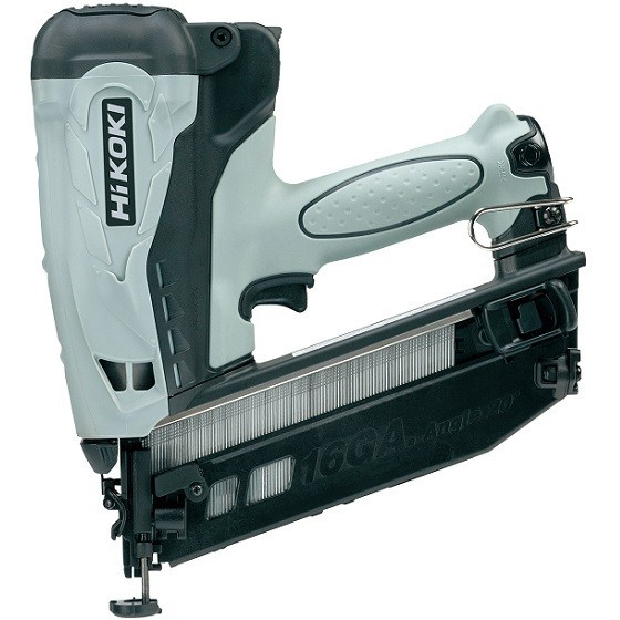 Image of Hikoki Nt65gb 36v 2nd Fix Angled Finishing Nailer With 2x 15ah Liion Batteries