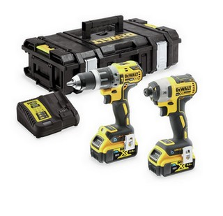 DEWALT DCK2500P2B 18V BRUSHLESS TOOL CONNECT TWIN PACK WITH 2X 5.0AH LI-ION BLUETOOTH BATTERIES