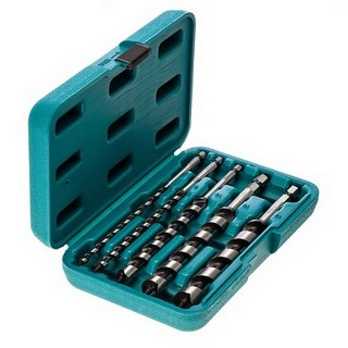 MAKITA P-46464 5 PIECE AUGER SET WITH HEX SHANK SUPPLIED IN STORAGE CASE