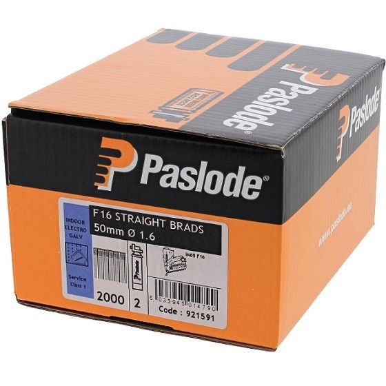 PASLODE 921591 BRAD/FUEL 50MM F16 GAL BOX 2000