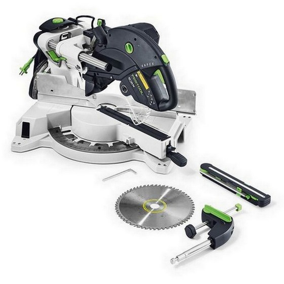 FESTOOL 561286 KAPEX KS120 SLIDING COMPOUND MITRE SAW 110V + FREE BLADE