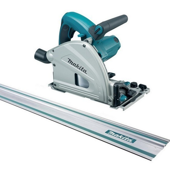 MAKITA SP6000J1 165mm CIRCULAR PLUNGE SAW 110V WITH 1.4M GUIDE RAIL