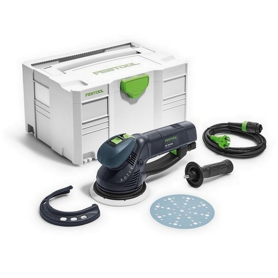 Image of FESTOOL 575072 ROTEX RO150 FEQPLUS SANDER AND POLISHER 240V SUPPLIED IN TLOC CASE