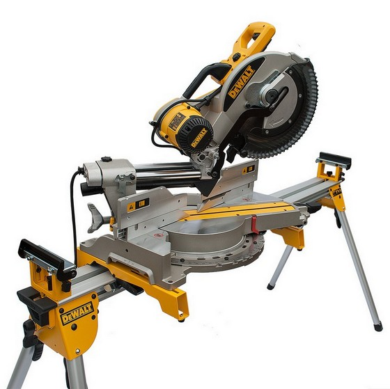 Image of DEWALT DW717XPS 250MM MITRE SAW 110V DE7023 LEG STAND