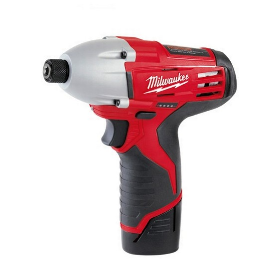 MILWAUKEE C12ID-22 COMPACT 12V IMPACT DRIVER 2 X 1.5Ah RED Li-ion BATTERIES