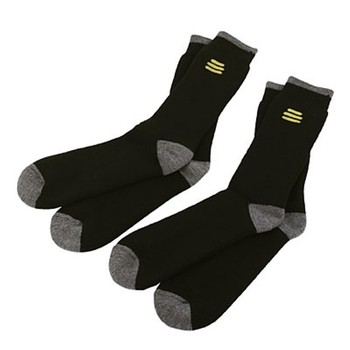 DEWALT TWIN PACK OF SOCKS IDEAL FOR USE WITH STEEL TOE CAPPED SAFETY BOOTS