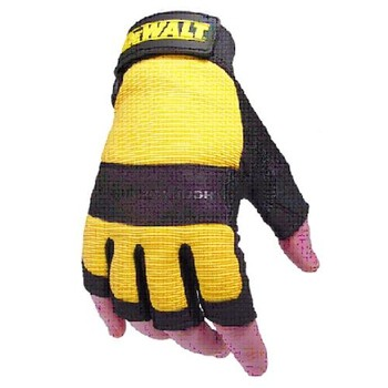 DEWALT DPG23L PERFORMANCE 4 PADDED SYNTHETIC FINGERLESS GLOVES